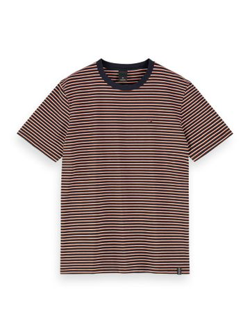 Scotch & Soda | Black Striped Regular Fit T-Shirt