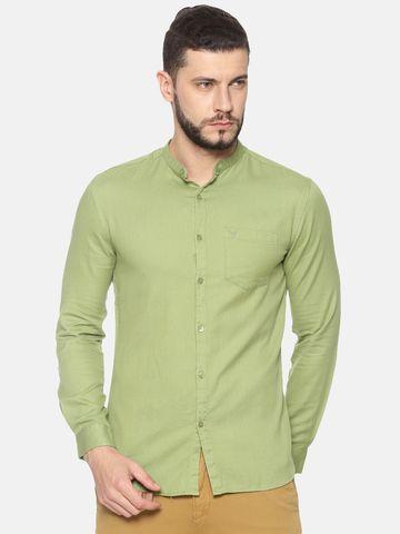 Showoff | SHOWOFF Mens Cotton Casual Solid Shirt