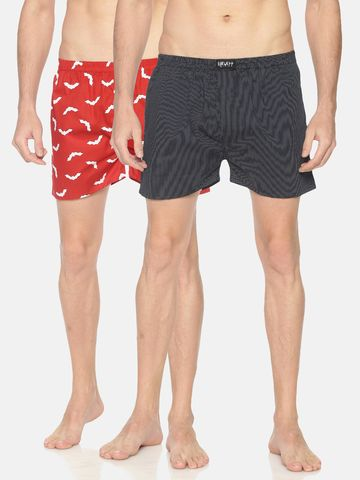Showoff | SHOWOFF Mens Pack of 2 Cotton Casual PrintedBoxer