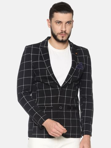 Showoff | SHOWOFF Mens Cotton Casual Printed Blazer
