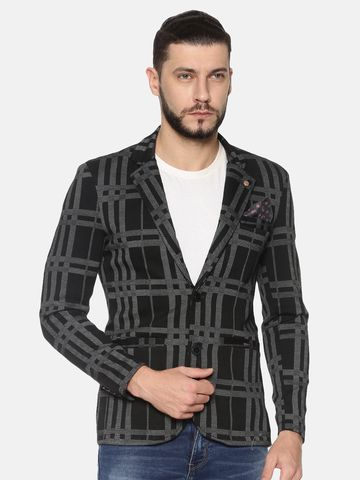 Showoff | SHOWOFF Mens Cotton Casual Printed Blazer