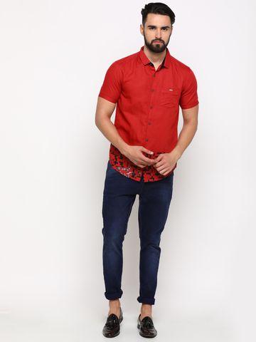 Showoff | SHOWOFF Men's Cotton Maroon Solid Shirt