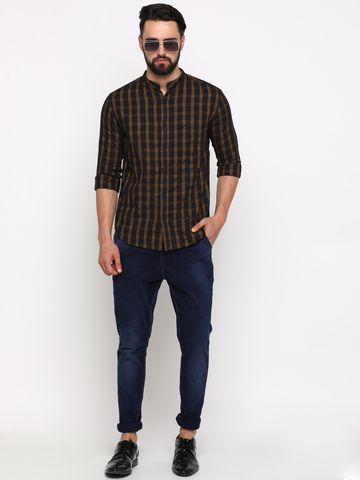 Showoff   SHOWOFF Men's Cotton Multi Checks Shirt