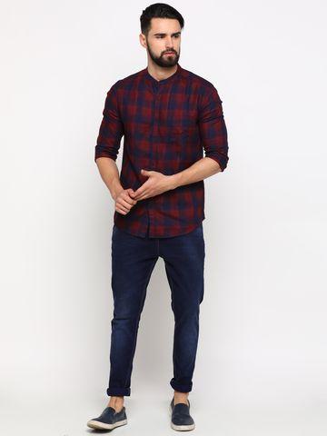 Showoff | SHOWOFF Men's Cotton Red Checks Shirt
