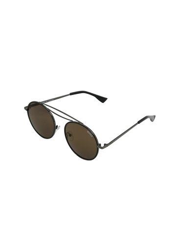 ENRICO | ENRICO Razor UV Protected Round Shape Unisex Sunglasses ( Lens - Black | Frame - Black)