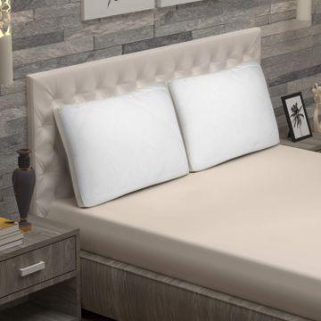 Sita Fabrics | Sita Fabric Premium Microfiber Snow White Pillow Pack of 2 - (18x27 Inches)