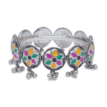 globus | Globus Dullsilver and Multi Ethnic Bracelet