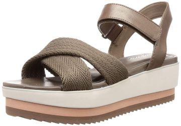 Skechers | Skechers Womens Eternal Love Dark Taupe Wedge Sandal
