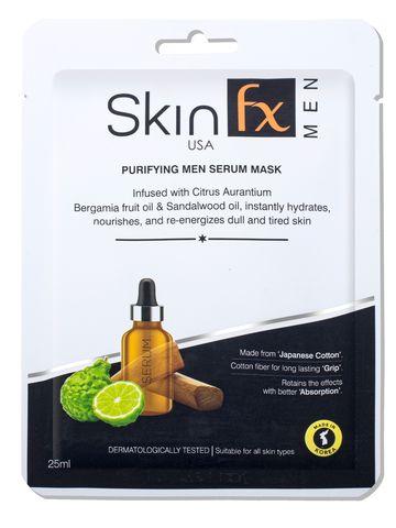 Skin Fx   Skin Fx Purifying Men Serum Mask For Dull & Tired Skin Pack of 1