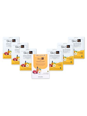 Skin Fx | Skin Fx Refreshing & Glowing Serum Mask Combo Pack of 6