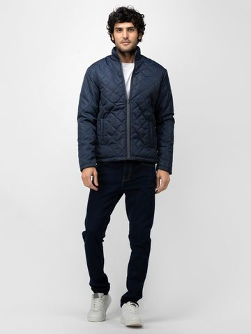 SOC PERFORMANCE | SOC Navy Quilted Jacket with Contrast Zipper