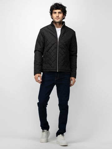 SOC PERFORMANCE | SOC Pure Black Solid Quilted Jacket