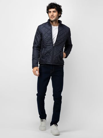 SOC PERFORMANCE | SOC Deep Navy Solid Quilted Jacket