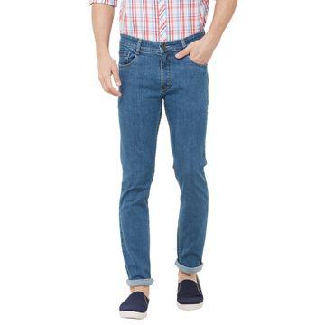 SOLEMIO   blue plain denim jeans