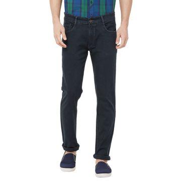 SOLEMIO   grey plain denim jeans