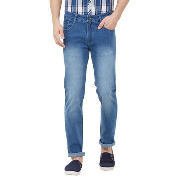 SOLEMIO | blue heavy washed denim jeans