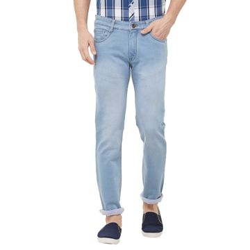 SOLEMIO | blue light washed denim jeans