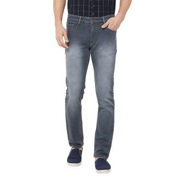 SOLEMIO | grey heavy washed denim jeans