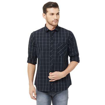 SOLEMIO | Black Checks Casual Shirt