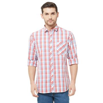 SOLEMIO   Multi Checks Casual Shirt