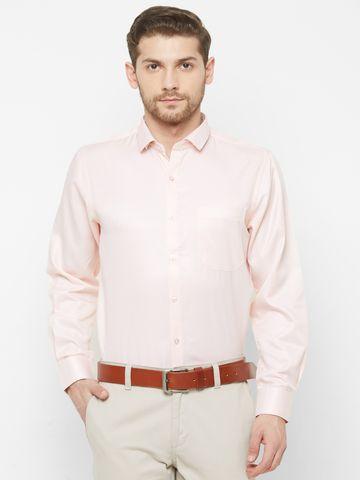 SOLEMIO | Pink Solid Formal Shirt