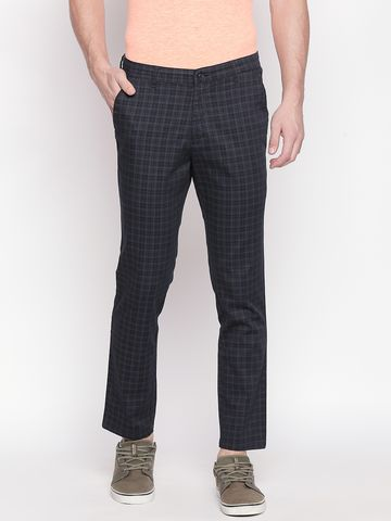 SOLEMIO | Solemio Cotton Blend Ankle Length Chinos For Mens