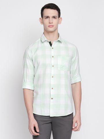 SOLEMIO | Green Checks Casual Shirt