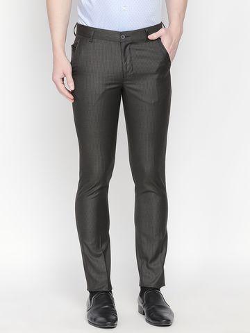 SOLEMIO | Solemio Men's Regular Fit Polyester Viscose Wvn Trouser