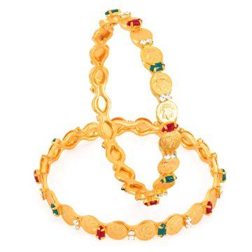 SUKKHI | Sukkhi Gold Plated Color Lord Lakshmi Bangles - 1116Vb750