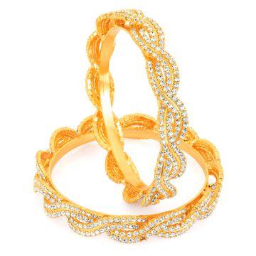 SUKKHI | Sukkhi Gold Plated Ad Stone Bangles - 1135Vb2250