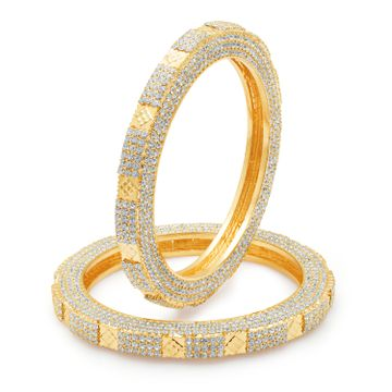 SUKKHI | Sukkhi Marquise Gold Plated Ad One Pair Of Kada For Women