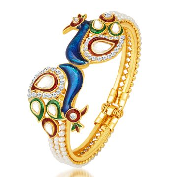 SUKKHI | Sukkhi Excellent Peacock Gold Plated Kundan Kada