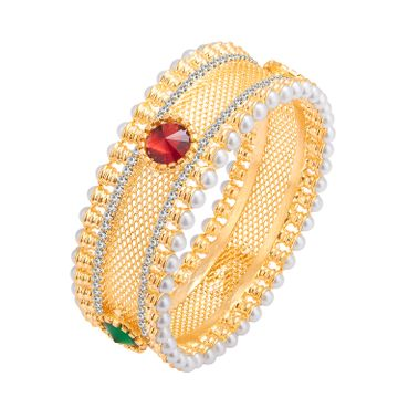 SUKKHI | Sukkhi Glimmery Gold Plated Ad Kada For Women