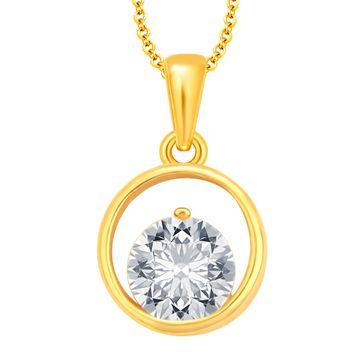 SUKKHI | Sukkhi Sparkling Solitaire Gold Plated Cz Pendant For Women