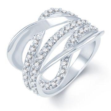 SUKKHI | Sukkhi Sublime Rhodium Plated Cz Studded Ring