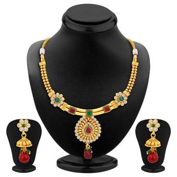 SUKKHI | Sukkhi Marvellous Gold Plated Necklace Set