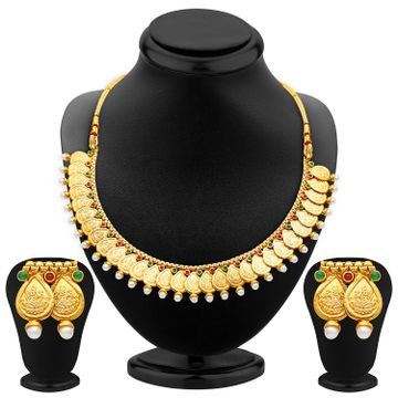 SUKKHI | Sukkhi Magnificent Gold Plated Temple Jewellery Necklace Set