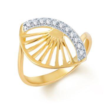 SUKKHI | Sukkhi Eye-Catchy Gold And Rhodium Plated Cz Ring