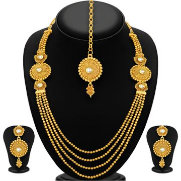 SUKKHI | Sukkhi Pleasing Four Strings Gold Plated Necklace Set For Women