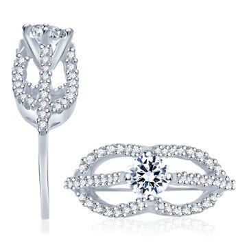 SUKKHI   Sukkhi Charming Rhodium Plated Cz Ring