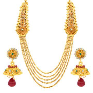 SUKKHI | Sukkhi Graceful Four String Gold Plated Necklace Set For Women