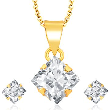 SUKKHI | Sukkhi Sublime Gold Plated Cz Pendant Set For Women