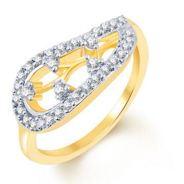 SUKKHI   Sukkhi Fancy Two Tone Cz Studded Ring