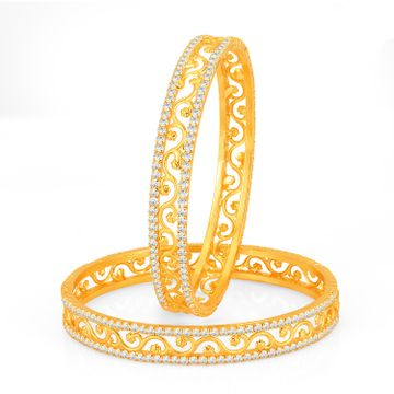 SUKKHI | Sukkhi Incredible Gold Plated Set of 2 Austrian Diamond Bangles for Women