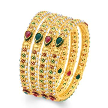 SUKKHI | Sukkhi Sublime Gold Plated Traditional Set Of 4 Bangles For Women