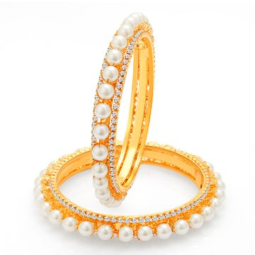SUKKHI | Sukkhi Finely Gold Plated Pearl Bangle For Women