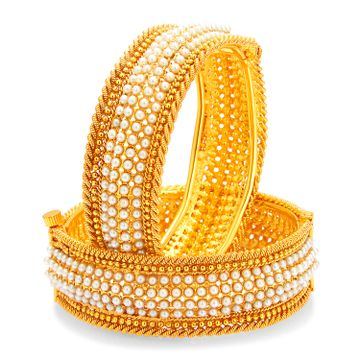 SUKKHI | Sukkhi Marvellous Gold Plated Pearl Bangle For Women