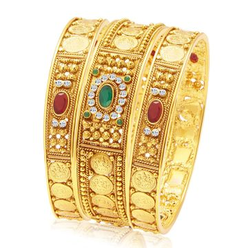 SUKKHI | Sukkhi Fascinating Temple Jewellery Gold Plated Coin Bangle For Women