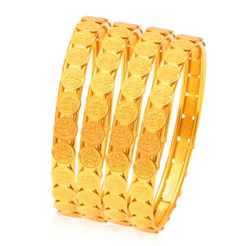 SUKKHI | Sukkhi Glamorous Temple Jewellery Gold Plated Coin Bangles Set of 4 For Women