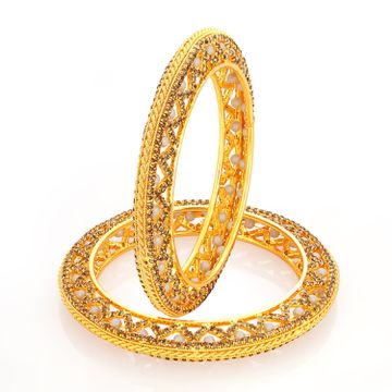 SUKKHI | Sukkhi Sublime Lct Stone Gold Plated Ad Bangle For Women